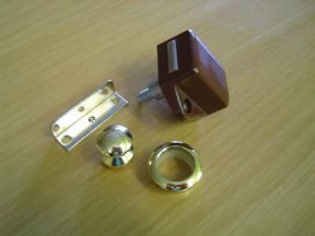 GOLD BUTTON MINI PUSH-LOCK